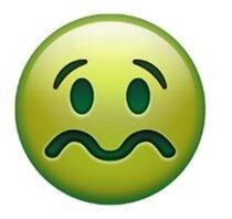 green yellow sick emoji