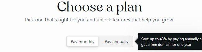 Choose Web Plan